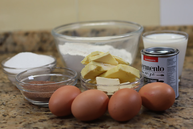 ingredientes bolo mármore