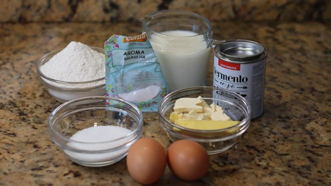 ingredientes para panquecas fofas