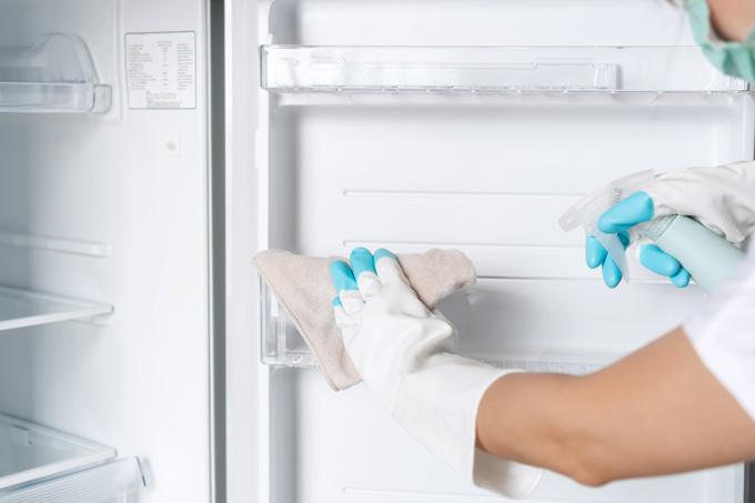 limpeza do frigorífico