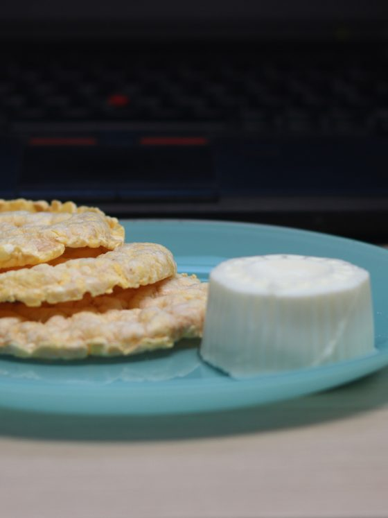 tortilhas de arroz com queijo fresco